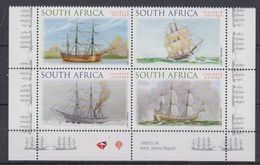 South Africa 1999 Sailing Ships 4v  (bottom Margin) ** Mnh (44411) - Ongebruikt