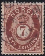 Norway    .      Yvert    21       .       O     .         Cancelled   .    /   .   Gebruikt - Noorwegen
