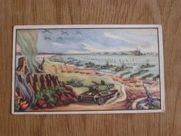 TREFIN L' Abeille De Bie Chromo N° 21  Le Débarquement En Europe 2 ème Guerre Mondiale Trading Card Vignette Chromos - Confiserie & Biscuits