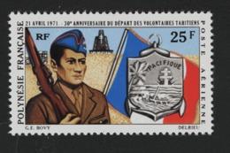 W24  Polynésie ° 1971 PA 47 50e Anniversaire Départ Volontaires - Poste Aérienne