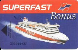 CARTE-MAGNETIQUE-1990-ACCES CABINE FERRY-CIE GREC -SUPERFAST-BONUS-Ligne Italie -Grece-TBE RARE - Frankreich