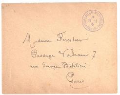 Bureau Central Militaire Postal  PARIS Ob 11 2 1915 - Marcophilie (Lettres)