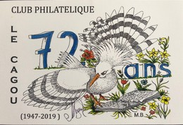 NOUVELLE CALEDONIE (New Caledonia) - Carte Postale - 2019 - Anniversaire Club Le Cagou - Sonstige