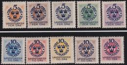 Sweden   .   Yvert   76/85   .       *    .      Mint-hinged    .    /   . Ongebruikt - Ongebruikt