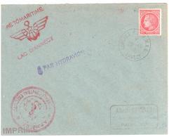 ANNECY Congrès F A M M A C 20 10 1946 Imprimé 1F Mazelin Yv 676 Marques AERO MARITIME Lac D'Annecy  PAR HYDRAVION - 1927-1959 Brieven & Documenten