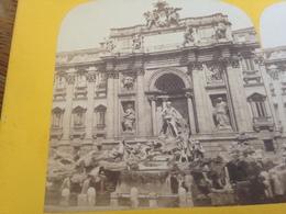STEREOSKOPIE - ANONYM - ROM - ROMA - ROME - FONTANA TREVI - FONTAINE TREVISE - Stereoscoop