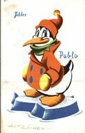 CARTE POSTALE PUBLICITAIRE CHOCOLATS TOBLER  WALT-DISNEY  PABLO - Autres