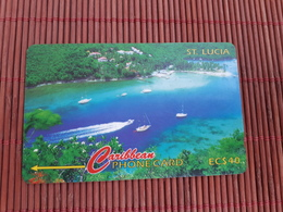 Phonecard ST-Lucia  Number 137CSLB Used Some Sratches On Card Not Perfect Rare - St. Lucia