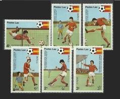 LAOS 1981 - CAMPEONATO DEL MUNDO DE FUTBOL ESPAÑA-82 - YVERT 361/366** - Laos