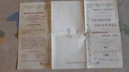 Programme (dépliant En 3 Volets) - Paroisse Saint Brice (95) Triduum Solennel Pour La Bienheureuse Jeanne D 'Arc - Programs