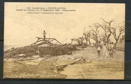 N°344  GUADELOUPE - APRES LE CYCLONE DU 12 SEPTEMBRE 1928 - POINTRE A PITRE, POISSONNERIE. - Pointe A Pitre