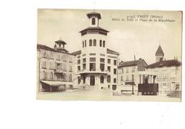 Cpa - 69 - Thizy Rhône - HOTEL DE VILLE Place De La République - 4145 Goutagny - Vespasiennes Urinoir Justice Paix SUZE - Thizy