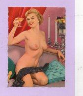 CPA - Photo érotique Du Studio G. Picard , Collection 219 : Femme Blonde NUE , Pose Artistique, Couleur Vintage, 1950 ? - Fotografía