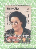 España 2019 - 1 Sello Usado- Monserrat Caballé -Serie Personajes De España-Espagne Spain Spanien Spagna - 2011-... Usados