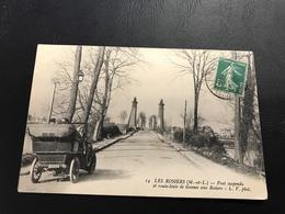 14 - LES ROSIERS Pont Suspendu Et Route Levée De Gennes Aux Rosiers - 1904 Timbrée - Frankreich