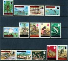 """1976 Gilbert Islands MNH OG Complete Set Of 14 Stamps """"Native Scenes Etc."""" Mi 248-261 Lovely Set - Gilbert & Ellice Islands (...-1979)"""