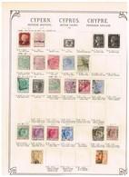 Chypre Cyprys Ancienne Collection.Altsammlung. Old Collection. Oude Verzaleling. - Sammlungen (ohne Album)