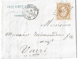 013. LAC N°13 Type II Bistre-Brun - Càd Les Sables D'Olonne (VENDEE) - 1862 - Marcofilia (sobres)