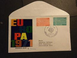 Franz.Andorra Mi. 222/23 FDC Nach Frankfurt Europa Cept Ausgabe Mi. 25.-€ - FDC