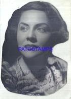 118721 ARGENTINA ARTIST AMELIA BENCE ACTRESS AUTOGRAPH NO POSTAL POSTCARD - Entertainers