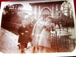 (±) 1935  Photographie JARDIN ZOOLOGIQUE DE MARSEILLE --☛ ZOO AVEC UN ÉLÉPHANT DERRIÈRE EUX   Photos Photo Originale - Ancianas (antes De 1900)