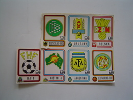 7 X VIGNETTES PANINI : FOOTBALL / COUPE DU MONDE FIFA /  MUNCHEN 1974 - Jeux Olympiques