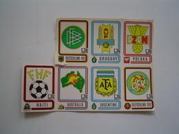 7 X VIGNETTES PANINI : FOOTBALL / COUPE DU MONDE FIFA /  MUNCHEN 1974 - Olympics