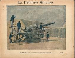 Couverture Cahier Les Frontières Maritimes Le Havre Canon Fort Sainte Adresse Aviso Le Milan - Protège-cahiers