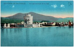 Souvenir De SALONIQUE - Vue Panoramique De La Mer - Greece