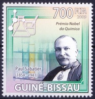 Nobel Chemistry Winner French Chemist Paul Sabatier, Guinea Bissau 2009 MNH  ( - Nobelpreisträger