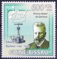 Nobel Chemistry Winner German Zymologist Eduard Buchner, Guinea Bissau 2009 MNH   ( - Nobelpreisträger