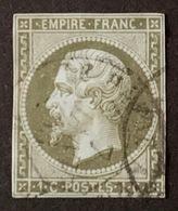 France Napoléon III 1860 YT N°11 - Oblitéré Cachet à Date - 1853-1860 Napoléon III