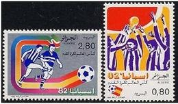 ARGELIA 1982 - ALGERIE - CAMPEONATO DEL MUNDO DE FUTBOL ESPAÑA-82 - YVERT 753/754** - 1982 – Espagne