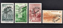 MONACO 1943 / 1951 - SERIE 4 TP / N° 2 / 3 / 4 / 5 -  NEUFS** /8 - Monaco