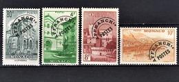 MONACO 1943 / 1951 - SERIE 4 TP / N° 2 / 3 / 4 / 5 -  NEUFS** /9 - Preobliterati