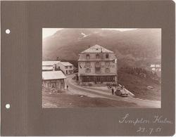 Switzerland  - SIMPLON KULM, Hotel Bellevue  - Photographie Ancienne Originale, 1951 - Luoghi