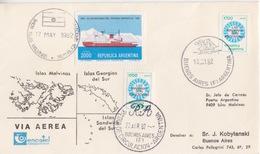 Polaire Argentin, FDC N° 1288 (Las Malvinas Son Argentinas) Obl  Le 22 APR 82 Buenos-Aires F + Malvinas 17 MAY 82 - Argentina