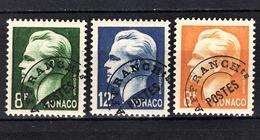 MONACO 1943 / 1951 - N° 8 / 9 / 10 -  NEUFS** /6 - Preobliterati