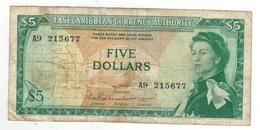 East Caribbean States , 5 Dollars . F/VF. - Oostelijke Caraïben