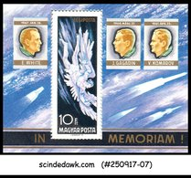 HUNGARY - 1968 SPACE RESEARCH - MINIATURE SHEET MNH - Space