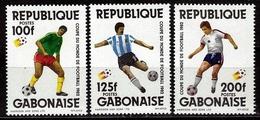 GABON 1982 - REPUBLIQUE GABONAISE - CAMPEONATO DEL MUNDO DE FUTBOL ESPAÑA-82 - YVERT Nº 497/499** - Gabón (1960-...)