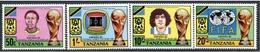 TANZANIA 1982 CAMPEONATO DEL MUNDO DE FUTBOL ESPAÑA'82 - YVERT 199-202** - Tanzania (1964-...)