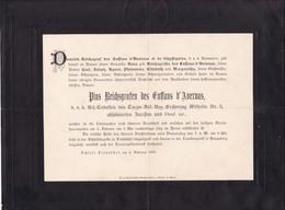 SCHOLS FRENBUHEL 1901 Pius Reichsgrafen Des Enffans D'Avernas  1901 26 Ans De GHYFFEGNIES Cavalerie - Décès