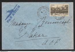N°499-Enveloppe De Toulouse Pour Dakar AOF-Par Avion - Marcophilie (Lettres)