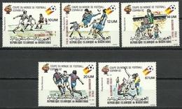 MAURITANIA 1982 - CAMPEONATO DEL MUNDO DE FUTBOL ESPAÑA-82 - YVERT Nº A 195-199** - Mauritania (1960-...)