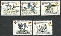MAURITANIA 1982 - CAMPEONATO DEL MUNDO DE FUTBOL ESPAÑA-82 - YVERT Nº A 195-199** - 1982 – Espagne