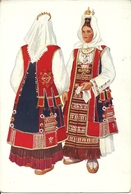Costumi Nazionali Croati, Muc (Croazia) Vladimir Kirin Illustratore - Costumi