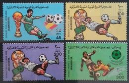 LIBIA 1982 -  CAMPEONATO DEL MUNDO DE FUTBOL  ESPAÑA-82 - YVERT 999/1002** - 1982 – Espagne