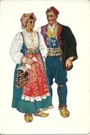 Costumi Nazionali Croati, Dalmazia, Podgora (Croazia) Vladimir Kirin Illustratore - Costumi