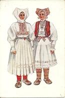 Costumi Nazionali Croati, Jamnica Pisarovinska (Croazia) Vladimir Kirin Illustratore - Costumi
